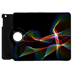 Fluted Cosmic Rafluted Cosmic Rainbow, Abstract Winds Apple Ipad Mini Flip 360 Case by DianeClancy