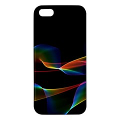 Fluted Cosmic Rafluted Cosmic Rainbow, Abstract Winds Apple Iphone 5 Premium Hardshell Case by DianeClancy