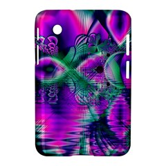 Teal Violet Crystal Palace, Abstract Cosmic Heart Samsung Galaxy Tab 2 (7 ) P3100 Hardshell Case  by DianeClancy