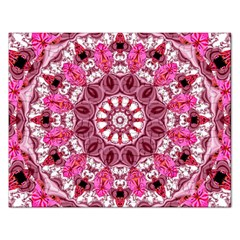 Twirling Pink, Abstract Candy Lace Jewels Mandala  Jigsaw Puzzle (rectangle) by DianeClancy