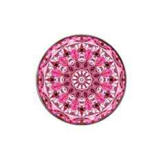 Twirling Pink, Abstract Candy Lace Jewels Mandala  Golf Ball Marker (for Hat Clip)
