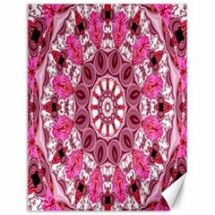 Twirling Pink, Abstract Candy Lace Jewels Mandala  Canvas 12  X 16  (unframed)