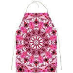 Twirling Pink, Abstract Candy Lace Jewels Mandala  Apron Front