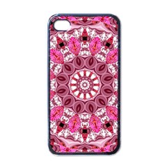 Twirling Pink, Abstract Candy Lace Jewels Mandala  Apple Iphone 4 Case (black) by DianeClancy