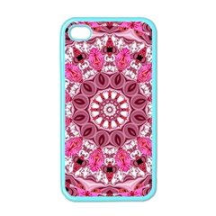 Twirling Pink, Abstract Candy Lace Jewels Mandala  Apple Iphone 4 Case (color)