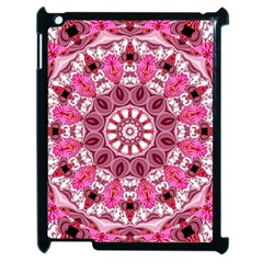 Twirling Pink, Abstract Candy Lace Jewels Mandala  Apple Ipad 2 Case (black) by DianeClancy