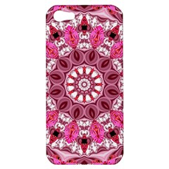 Twirling Pink, Abstract Candy Lace Jewels Mandala  Apple Iphone 5 Hardshell Case by DianeClancy