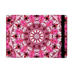 Twirling Pink, Abstract Candy Lace Jewels Mandala  Apple Ipad Mini Flip Case