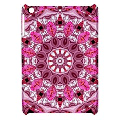Twirling Pink, Abstract Candy Lace Jewels Mandala  Apple Ipad Mini Hardshell Case
