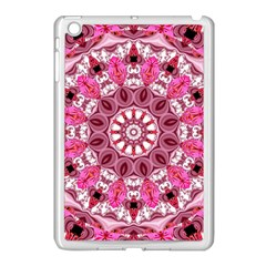 Twirling Pink, Abstract Candy Lace Jewels Mandala  Apple Ipad Mini Case (white)