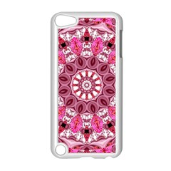 Twirling Pink, Abstract Candy Lace Jewels Mandala  Apple Ipod Touch 5 Case (white)