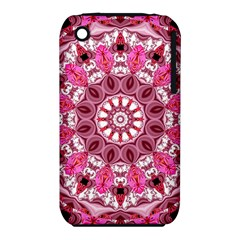 Twirling Pink, Abstract Candy Lace Jewels Mandala  Apple Iphone 3g/3gs Hardshell Case (pc+silicone) by DianeClancy