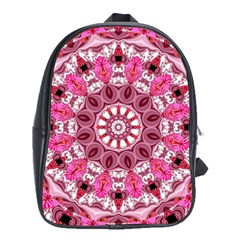 Twirling Pink, Abstract Candy Lace Jewels Mandala  School Bag (xl)