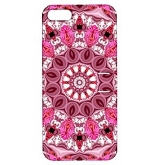 Twirling Pink, Abstract Candy Lace Jewels Mandala  Apple Iphone 5 Hardshell Case With Stand by DianeClancy