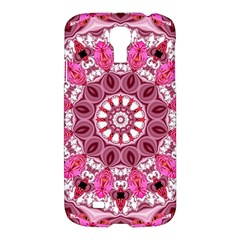 Twirling Pink, Abstract Candy Lace Jewels Mandala  Samsung Galaxy S4 I9500/i9505 Hardshell Case