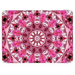 Twirling Pink, Abstract Candy Lace Jewels Mandala  Samsung Galaxy Tab 7  P1000 Flip Case by DianeClancy