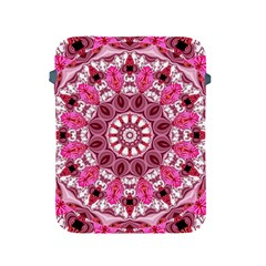 Twirling Pink, Abstract Candy Lace Jewels Mandala  Apple Ipad Protective Sleeve