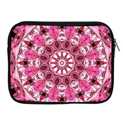 Twirling Pink, Abstract Candy Lace Jewels Mandala  Apple Ipad Zippered Sleeve