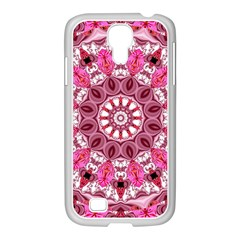 Twirling Pink, Abstract Candy Lace Jewels Mandala  Samsung Galaxy S4 I9500/ I9505 Case (white)