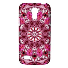 Twirling Pink, Abstract Candy Lace Jewels Mandala  Samsung Galaxy S4 Mini (gt I9190) Hardshell Case  by DianeClancy