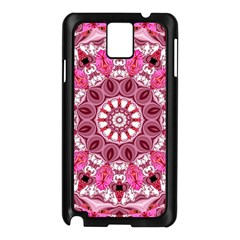 Twirling Pink, Abstract Candy Lace Jewels Mandala  Samsung Galaxy Note 3 N9005 Case (black)