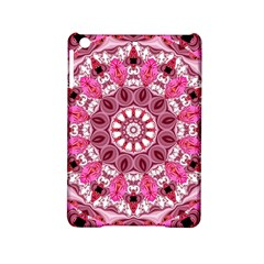 Twirling Pink, Abstract Candy Lace Jewels Mandala  Apple Ipad Mini 2 Hardshell Case by DianeClancy