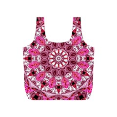 Twirling Pink, Abstract Candy Lace Jewels Mandala  Reusable Bag (s)