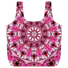 Twirling Pink, Abstract Candy Lace Jewels Mandala  Reusable Bag (xl)