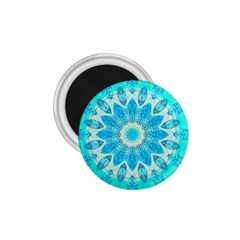 Blue Ice Goddess, Abstract Crystals Of Love 1 75  Button Magnet