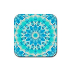 Blue Ice Goddess, Abstract Crystals Of Love Drink Coasters 4 Pack (square)