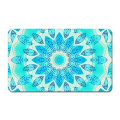Blue Ice Goddess, Abstract Crystals Of Love Magnet (rectangular)