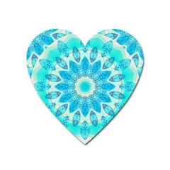 Blue Ice Goddess, Abstract Crystals Of Love Magnet (heart)