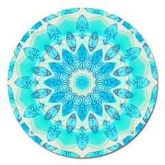 Blue Ice Goddess, Abstract Crystals Of Love Magnet 5  (round)