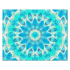 Blue Ice Goddess, Abstract Crystals Of Love Jigsaw Puzzle (rectangle) by DianeClancy