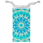 Blue Ice Goddess, Abstract Crystals Of Love Jewelry Bag Front