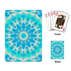 Blue Ice Goddess, Abstract Crystals Of Love Playing Cards Single Design