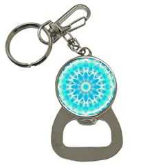 Blue Ice Goddess, Abstract Crystals Of Love Bottle Opener Key Chain