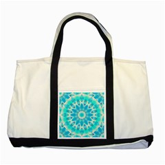 Blue Ice Goddess, Abstract Crystals Of Love Two Toned Tote Bag