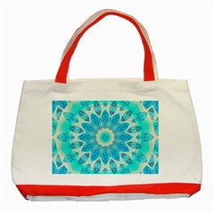Blue Ice Goddess, Abstract Crystals Of Love Classic Tote Bag (red)