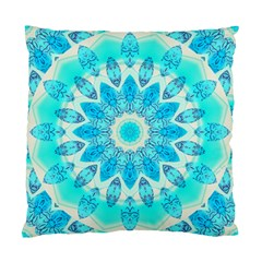 Blue Ice Goddess, Abstract Crystals Of Love Cushion Case (single Sided)