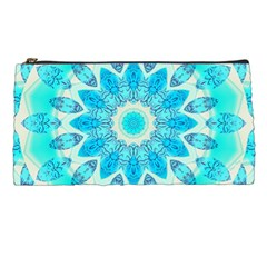 Blue Ice Goddess, Abstract Crystals Of Love Pencil Case by DianeClancy