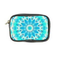Blue Ice Goddess, Abstract Crystals Of Love Coin Purse