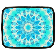 Blue Ice Goddess, Abstract Crystals Of Love Netbook Sleeve (xxl)