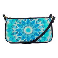 Blue Ice Goddess, Abstract Crystals Of Love Evening Bag
