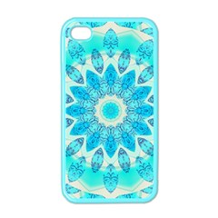 Blue Ice Goddess, Abstract Crystals Of Love Apple Iphone 4 Case (color)