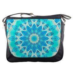 Blue Ice Goddess, Abstract Crystals Of Love Messenger Bag