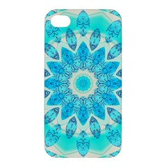 Blue Ice Goddess, Abstract Crystals Of Love Apple Iphone 4/4s Premium Hardshell Case