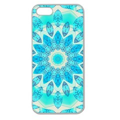 Blue Ice Goddess, Abstract Crystals Of Love Apple Seamless Iphone 5 Case (clear) by DianeClancy