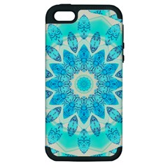 Blue Ice Goddess, Abstract Crystals Of Love Apple Iphone 5 Hardshell Case (pc+silicone)