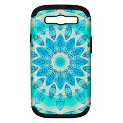 Blue Ice Goddess, Abstract Crystals Of Love Samsung Galaxy S Iii Hardshell Case (pc+silicone)